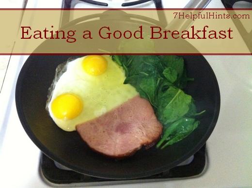 eating a good breakfast