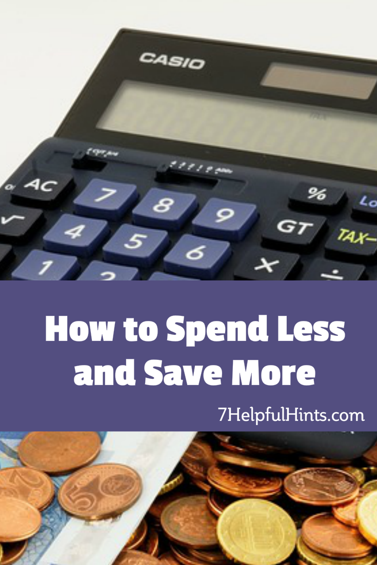 how to spend less and save more