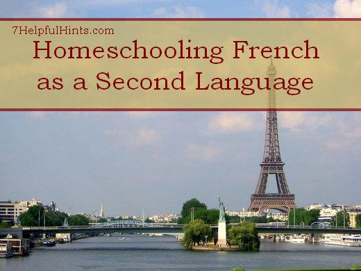 homeschooling French as a second language