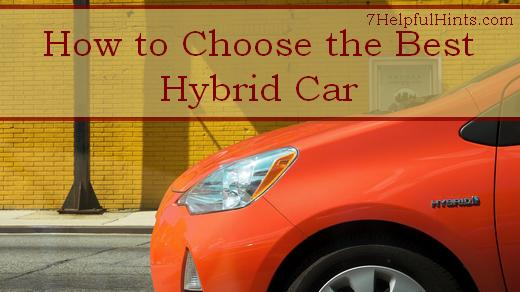 how to choose the best hybrid car