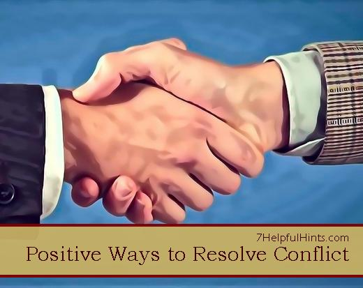 positive ways to resolve conflict