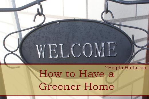 how to have a greener home