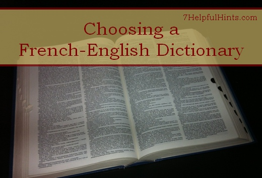 choosing a French-English dictionary