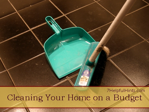 cleaning your home on a budget