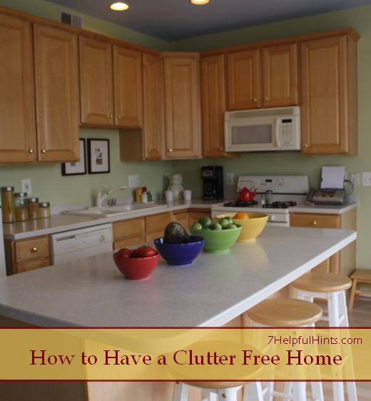 how to have a clutter-free home