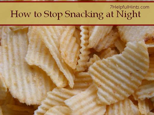 how to stop snacking at night