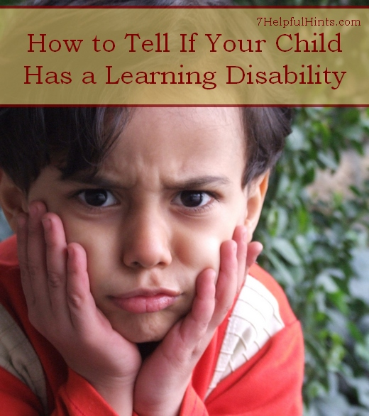 how to tell if your child has a learning disability