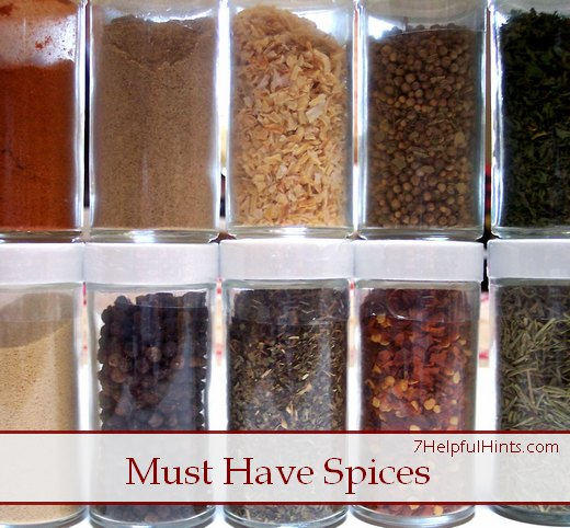 7 must have spices