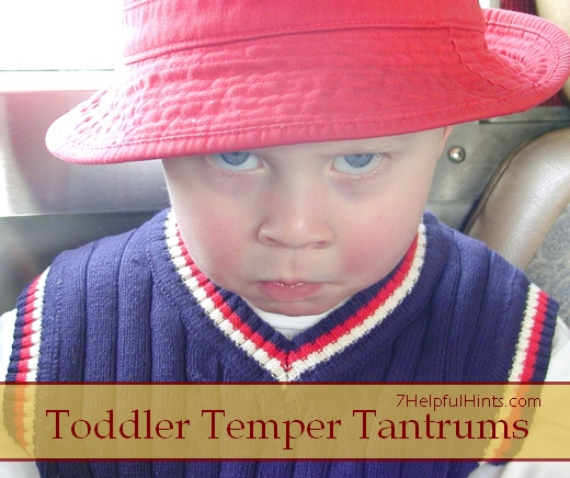 taming toddler temper tantrums
