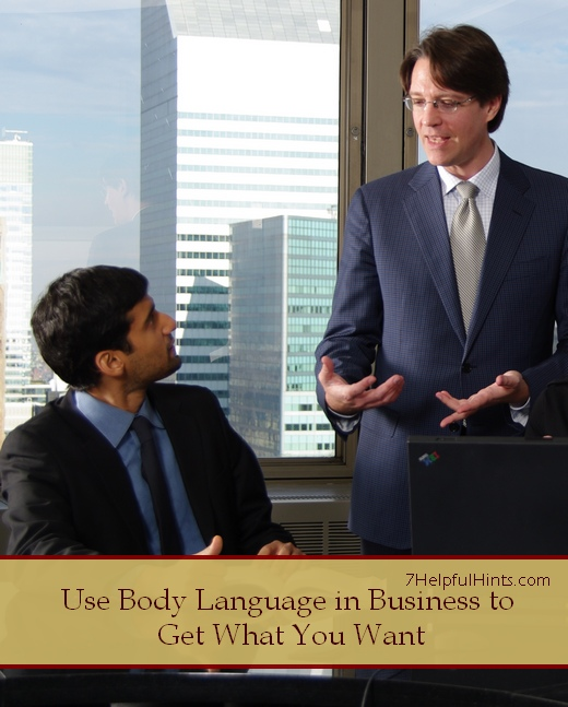 use body language in business to get what you want