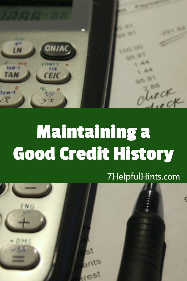 maintaining a good credit history