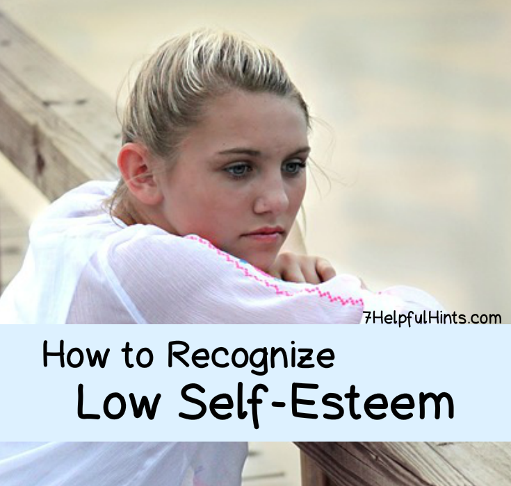 how to recognize low self esteem